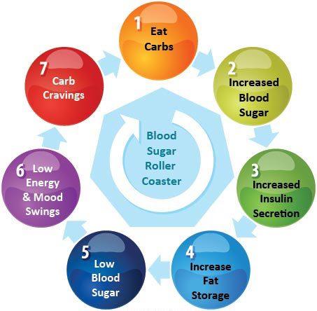 Blood sugar roller coaster