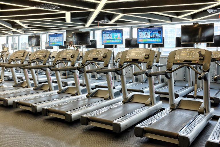 Compact treadmills feature