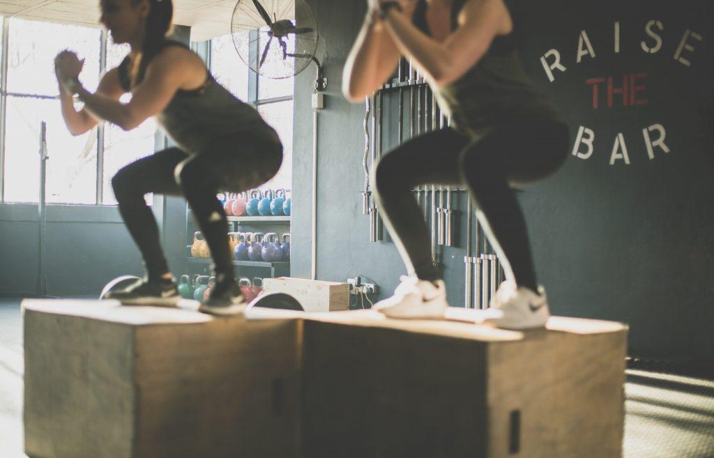 Squats on a box