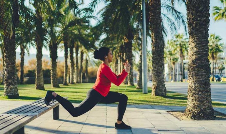How to build up your legs with elevated lunges
