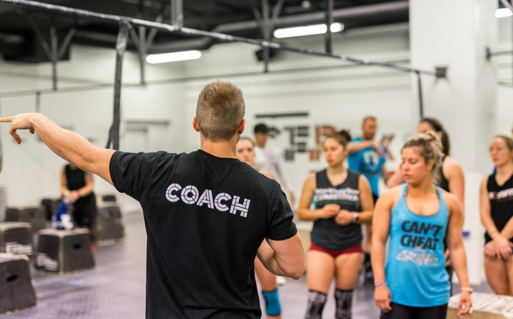 crossfit coach pointing