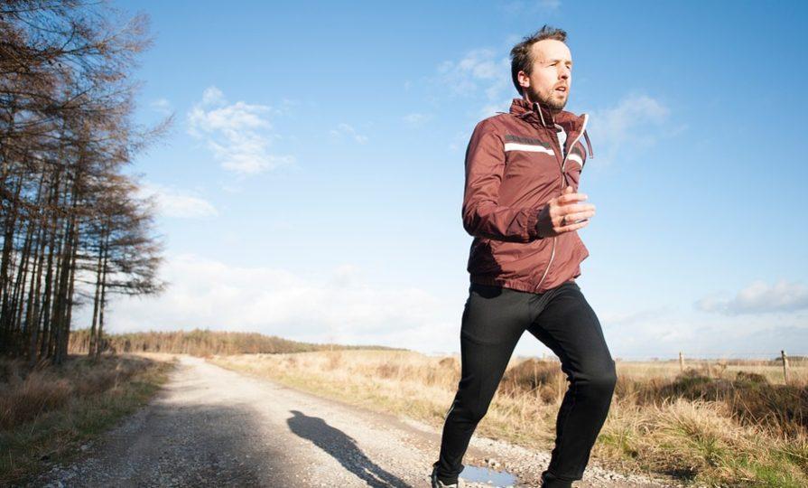 a man jogging pre-workout