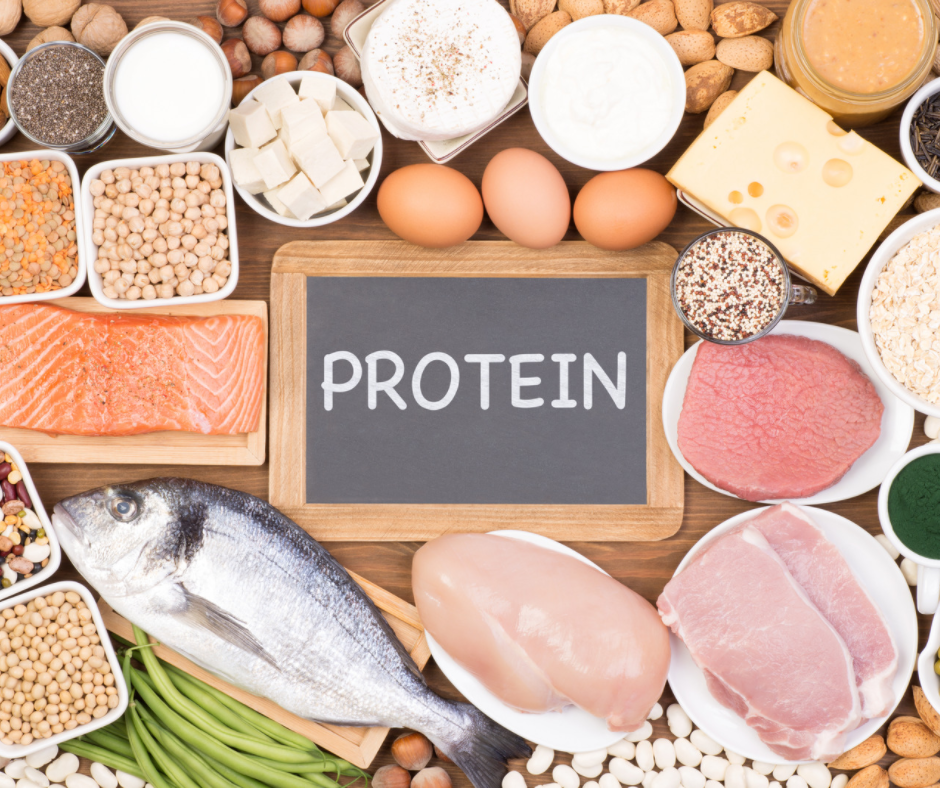 Protein-rich food to increase anabolism